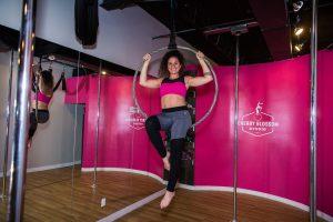 aerial hoop pose