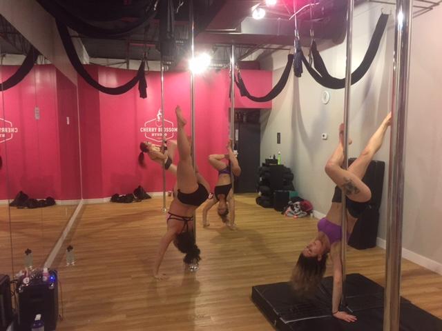 pole fitness class
